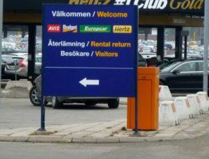 Hyra bil av Budget på Arlanda